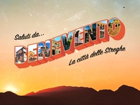 Greetings From Benevento, Italy - Postcard Design