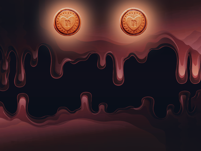 Nutella Biscuits Monster cookies biscuits rebounds rebound halloween design scary spooky blob food chocolate nutella illustration adobe photoshop monsters monster halloween design adobe illustrator photoshop adobe