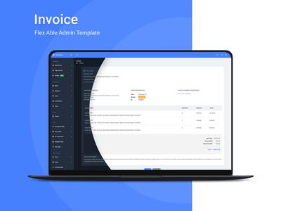 Invoice Page - Flex Able Admin Template