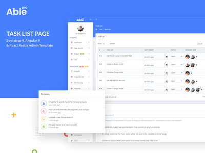 Task List Page - Able Pro Admin Template