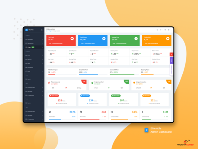 Static Widget : Elite Able Admin Dashboard