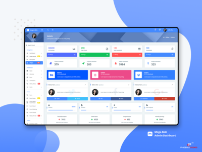 Widgets : Mega Able Admin Dashboard