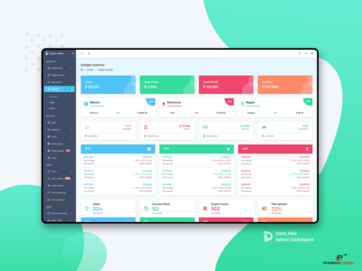 Widgets of Dash Able Admin templates