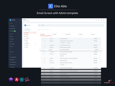 Elite Able Admin Template & UI Kit - Email screen