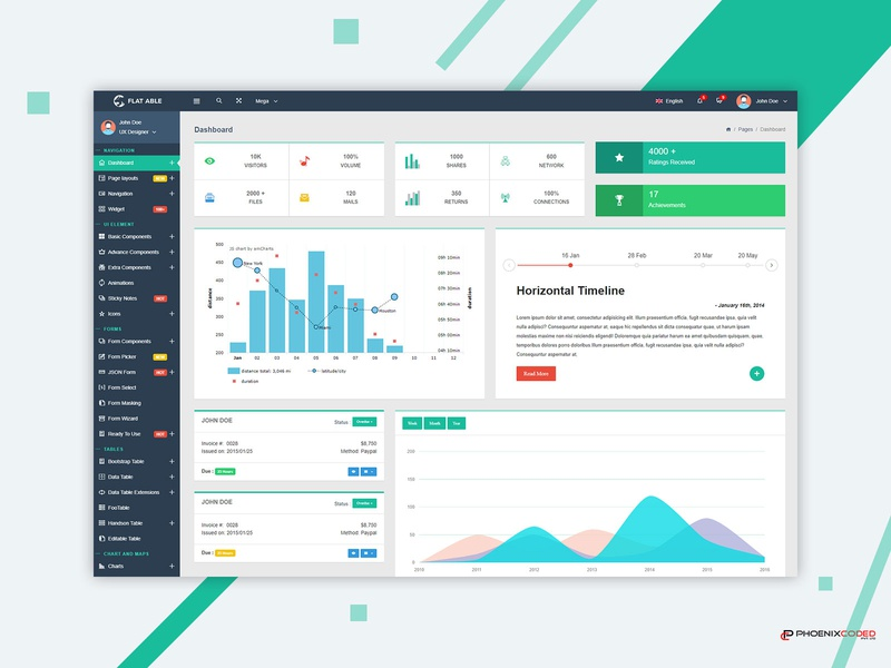 Flat Able Bootstrap Admin Template analytic design dashboard ux photoshop vector illustration ui admin panel admin admin design admin theme admin dashboard template admin template uidesign bootstrap admin admin templates branding bootstrap 4 admin dashboard