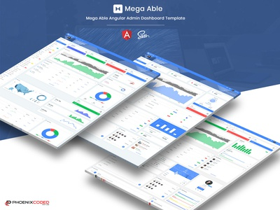 Mega Able Angular Admin Dashboard Template