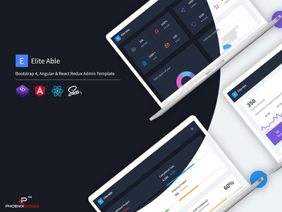 Elite Able - Bootstrap 4, Angular & React Redux Admin Template