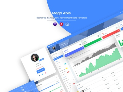 Mega Able Bootstrap 4 & Angular 7 Admin Dashboard Template