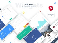 Widgets for Flat Able Angular Admin Template