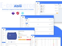 Able pro 8.0 Bootstrap 4, Angular 8 & React Redux Admin Template