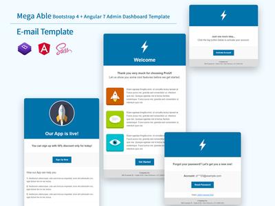 Mega Able Bootstrap 4 & Angular Admin Dashboard Template