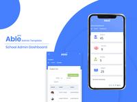 School Admin Dashboard - Able Pro Admin Dashboard