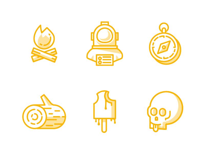 Icons fun illustration icons
