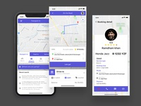 Online Ride-Sharing UI design