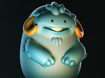 Monstober - Oxymaroon monster 3d illustration character design toy design vinyl toy designer toy