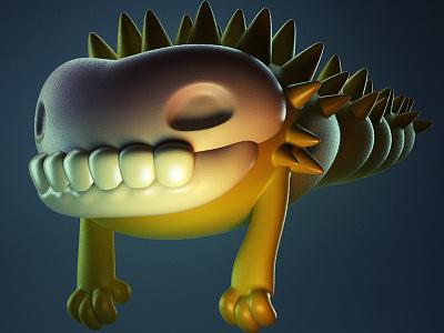 Monstober - Skullworm monster 3d illustration character design toy design vinyl toy designer toy