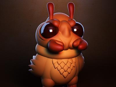 Monstober - Chickant monster 3d illustration character design toy design vinyl toy designer toy