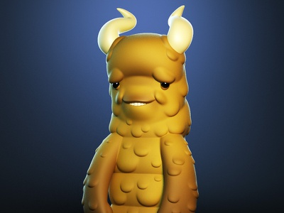 Monstober - Wim monster 3d illustration character design toy design vinyl toy designer toy