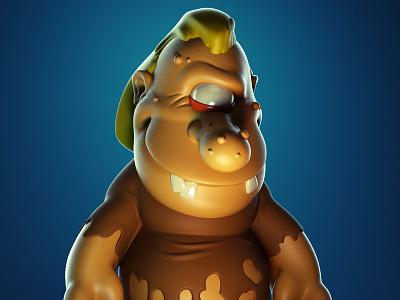 Monstober - Glamclops monster 3d illustration character design toy design vinyl toy designer toy