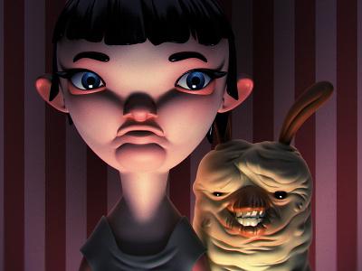 Monstober - Illy monster 3d illustration character design toy design vinyl toy designer toy