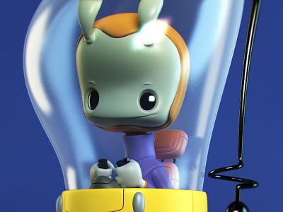 March of Robots monster 3d illustration character design toy design vinyl toy designer toy