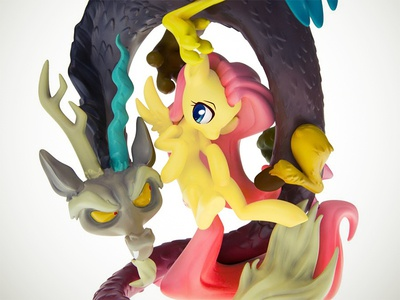Discord and Fluttershy Resin Statue