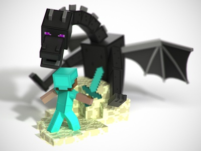 "Minecraft ""Build-It"" Toy Sculpts"