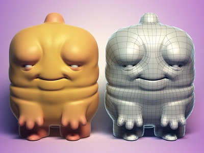 """""""Cheebs"""" Customizable Base Mesh free download 3d model"""