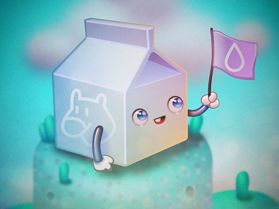Cutie Pie Milk Carton illustration milk character design