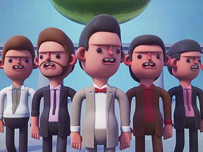 Hong Kong Cavaliers vinyl toy illustration designer toy toy design 3d illustration character design