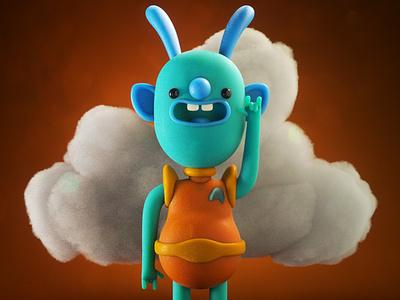 Alien Pilbs illustration designer toy toy design 3d illustration character design