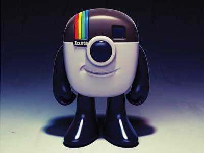 Instagram Mascot 3d illustration character design toy design