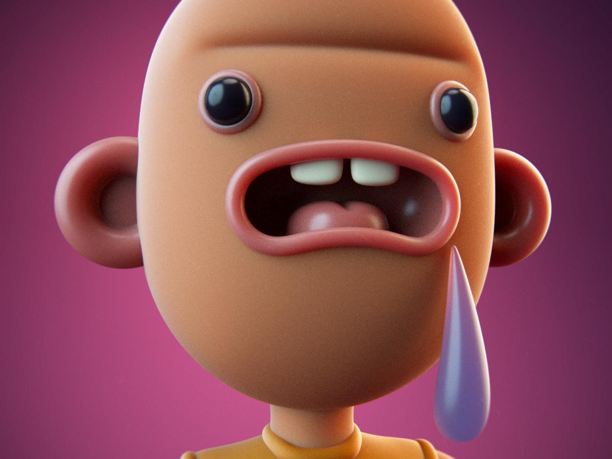 Bully 3d illustration character design