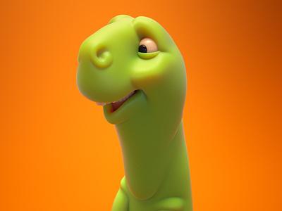 Goobasaur 3d illustration toy design character design