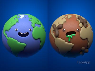 FaceApp Aging Challenge 3d illustration character design