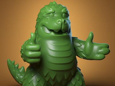 Mazilla Sculpt for Mathews Elementary School 3d toy design monster character design