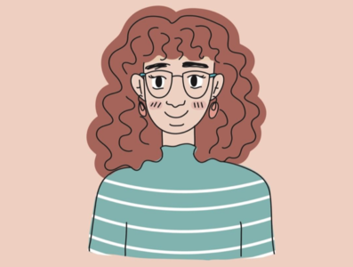 Self Portrait 2020 good hair portrait illustration clean lines adobe illustrator illustration self portrait