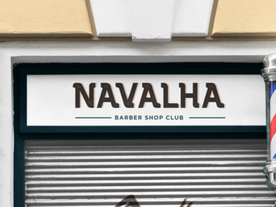 Navalha Barber Shop Club barbershop logotype brand identity graphicdesign logo