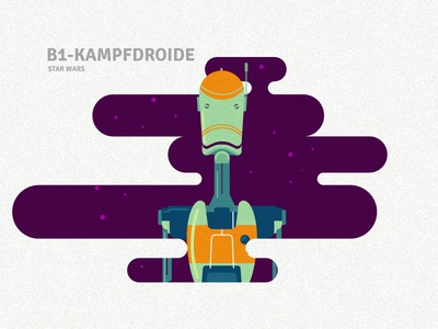 B1-KAMPFDROIDE kampfdroid kampfdroid stickers star wars graphicdesign fan art design vector illustration