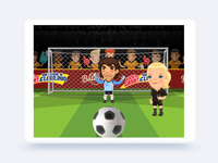 HTML5 soccer game animations for tablets