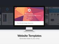 Website template showcase visualisation