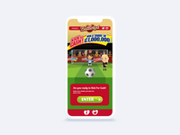 HTML5 soccer game animations for mobile
