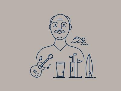 Line Art Animation - Lifestyle Man