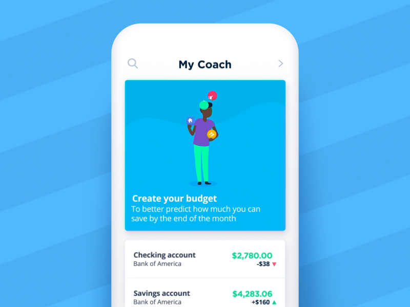 Bankin' - Create your budget by Andre Navarre | Dribbble