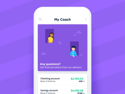 Bankin' - Any questions? chat help talking speach support fake 3d app animations character animation loop characters json animated cards card animation app mobile vector animation svg animation bodymovin lottie after effects