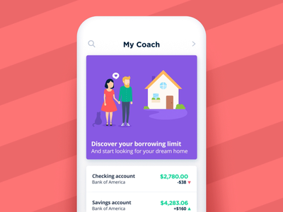 Bankin' - Discover your borrowing limit fake 3d app animations character animation loop characters json animated cards card animation app mobile vector animation svg animation bodymovin lottie after effects