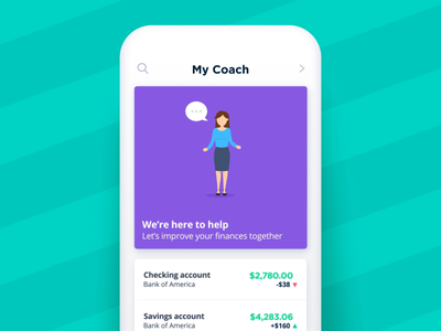 Bankin' - We're here to help helper chat help desk support talking speach bubble fake 3d app animations character animation loop json animated cards card animation app mobile vector animation svg animation bodymovin lottie after effects
