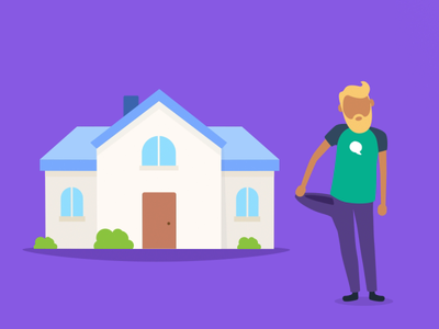 Bankin' - Renegotiate your mortgage bank loan pocket coins house fake 3d app animations character animation loop characters json animated cards card animation app mobile vector animation svg animation bodymovin lottie after effects