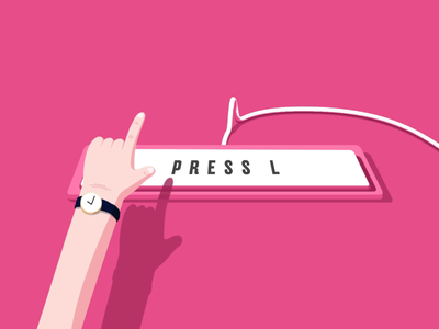 Press L Button cable keyboard cinema 4d isometric 3d 2d minimalist simple flat cartoon finger animation hand animation motion designer motion design animation after effects