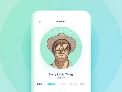 Music cover 3d effect concept using gyroscope clapton every little thing eric clapton song device concept audio app experimental effect 3d visual cover music hand movement mobile interaction gyroscope handling